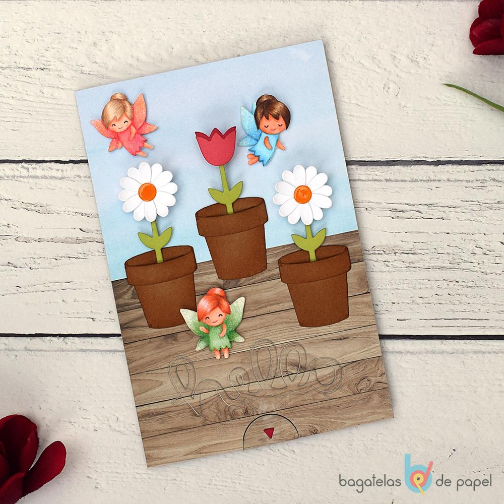 Interactive Growing Flowers Card For Lawn Fawnatics Challenge 29