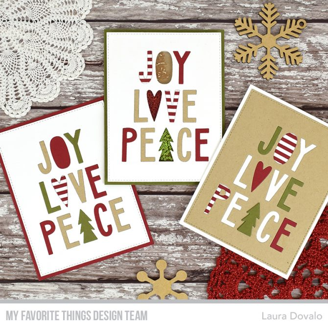 Three quick Christmas cards for MFT.