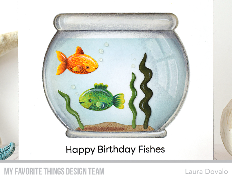 Card with fishbowl window for Vault Day 2 - bagatelasdepapel.com ...