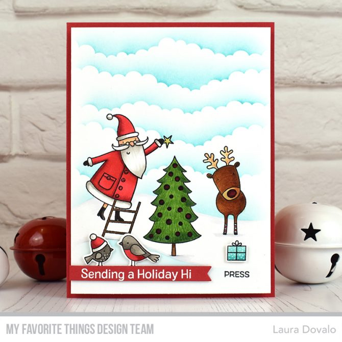 Light up Christmas card for Day 3 of the MFT September Release Countdown.